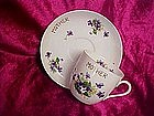 "Lefton oversized ""Mother""  cup and saucer with Violets"
