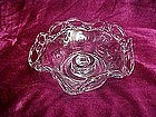 Imperial crocheted open lace ruffled candle holder