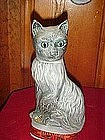 Jim Beam blue point, grey cat decanter