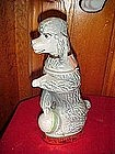 Jim Beam grey poodle decanter 1970