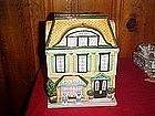 Sweet shop cottage cookie jar
