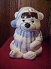 Bear in pajamas and nite cap, cookie jar