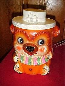 Old circus clown/bear cookie jar