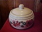 Red Wing fruit munch cookie jar with hand painted roses