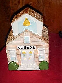 Little old school house cookie jar