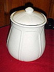 Sears Home white cannister, cookie jar