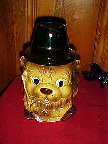 King of the golf course, Lion cookie jar, vintage Japan