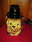 King of the golf course, Lion cookie jar, vintage Japan