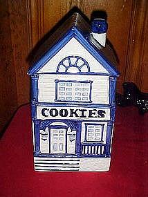 Two story victorian Cookies house, cookie jar