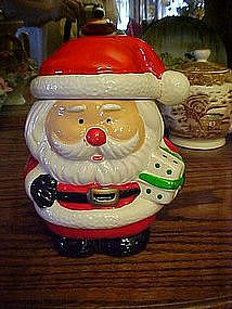 Little Santa Claus cookie / treats  jar