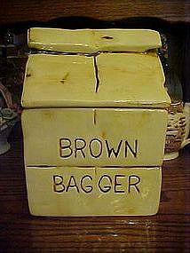 Vintage Brown Bagger cookie jar