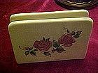 Gibson Roseland ceramic napkin holder