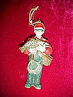 Fisherman and fish ornament