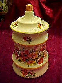 Vintage Golden Poppies cookie jar