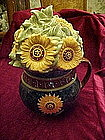 Susan Winget, Big cup of Sunflowers, cookie jar