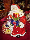 Large Father Christmas bearing gifts,  cookie jar