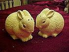 Hallmark bunny rabbit salt and pepper shakers
