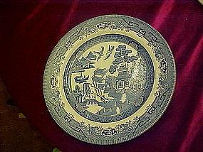 "10 1/4"" Blue Willow dinner plate, Churchill England"