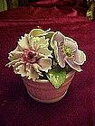 Vintage Radnor bone china bucket of flowers
