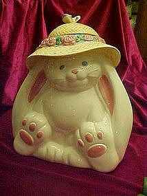 Treasure craft flopsy bunny rabbit cookie jar