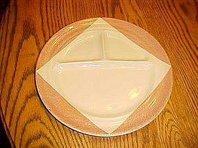 Wallace Desert Ware divided grill plate, 1947