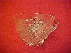 Tiara crystal sandwich glass cup, rounded side,Indiana