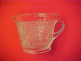 Tiara crystal sandwich glass cups, Indiana