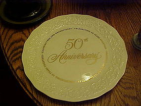 Grandmother / Grandfather 50th Anniversary plate