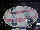 Stetson Scots clan, plaid bread and butter plate