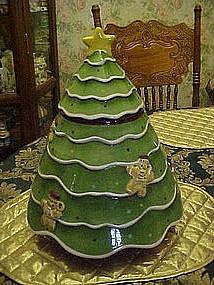 Huge Christmas tree cookie jar by Laurie Gates