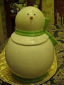 Simple snowman cookie jar