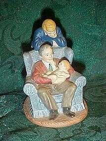 "Avon figurine, ""Passing Down the dream"" 1991"