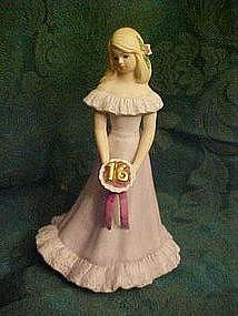 Enesco Growing up girls birthday figurine #16, blonde