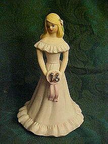 Enesco growing up girls figurine, blond  girl #16