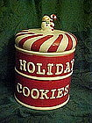 Two tier cookie jar, Holiday cookies, snowman, candy