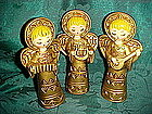 Vintage ceramic angel trio