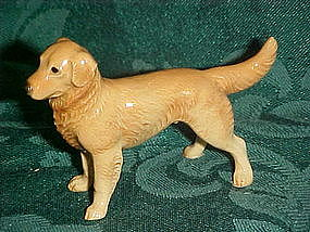 Vintage Golden Labrador retriever miniature figurine
