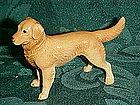 Vintage Golden Labrador retriever miniature figurine