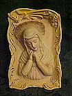 Sculpted  bisque Madonna wall figurine