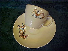 Taylor Smith weathervane pattern cup & matching saucer