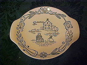 Wayne County, lugged dessert plates by Royal China
