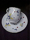 Cup and saucer with butterflies, Lefton?