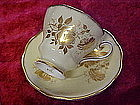 Royal Grafton cup and saucer, yellow, with gold roses