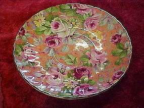 Marlborough chintz saucer, made in England