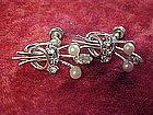 Carl-Art Rhinestone and real pearl earrings