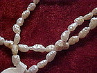 Genuine freshwater rice pearl necklace