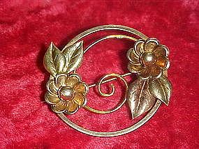 Vintage Bal-Ron floral pin