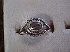 Ladies sterling silver ring with amethyst stone, size 7