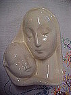 Old ceramic Madonna and Child head vase