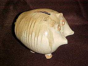 Pottery piggy bank by Jack Pott Ceramics, San Diego